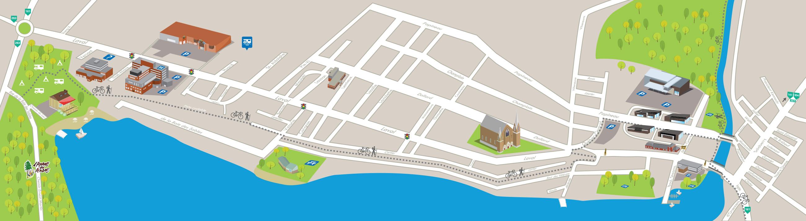 Destination Lac-Mégantic |Carte